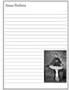 Anna Pavlova Notebooking Paper