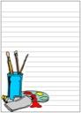 Homeschool Helper Online's Free Artist Palette Notebooking