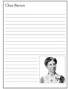 Homeschool Helper Online's Free Clara Barton Notebooking