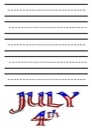 Flag Day Notebooking Paper