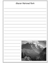 Glacier National Park Notebooking Paper