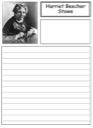 Homeschool Helper Online's Free Harriet Beecher Stowe Notebooking