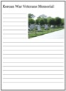 Homeschool Helper Online's Korean War Memorial Notebooking