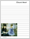 Manet's The Railroad Notebooking Paper
