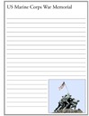 U.S. Marine Memorial Notebooking Page