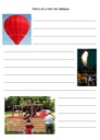 Free Parts of a Hot Air Balloons Notebooking Page