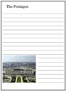 Homeschool Helper Online's U.S. Pentagon Notebooking