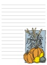Free Pumpkins and Gourds Notebooking Page