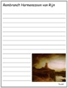Rembrandt's The Mill Notebooking Page