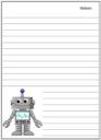 Homeschool Helper Online's Free Robots Notebooking