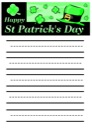 St. Patrick's Day Notebooking Paper
