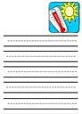 Thermometer Notebooking Paper