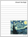 Van Gogh's Starry Night Notebooking Page