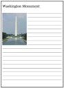 Homeschool Helper Online's Washington Monument Notebooking