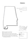 Homeschool Helper Online's Free Alabama Geography Worksheet