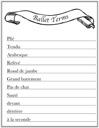 Homeschool Helper Online's Ballet Terms Worksheet