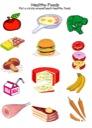 Homeschool Helper Online's Free Healthy Foods Worksheet Worksheet
