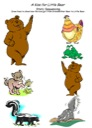Homeschool Helper Online's Free A Kiss for Little Bear Story Sequencing Worksheet Worksheet