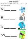 Homeschool Helper Online's Free Long OW Words Worksheet Worksheet