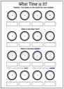 Free What Time is it Worksheet