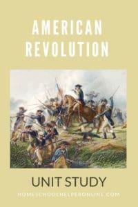 American Revolution Unit Study