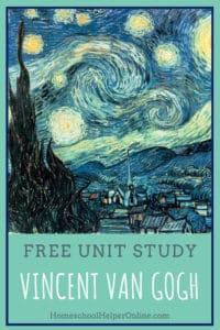 Vincent Van Gogh Unit Study