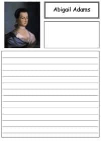 Abigail Adams Notebooking