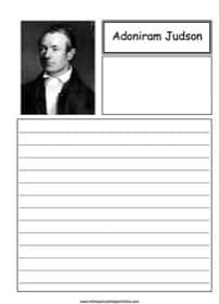 Adoniram Judson Notebooking
