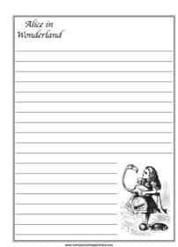 Alice in Wonderland ~ Literature Notebooking Page