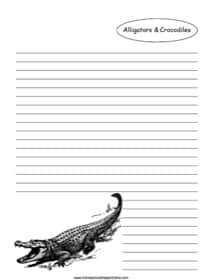 Alligators and Crocodiles Notebooking Page
