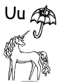 Alphabet Letter U Worksheet