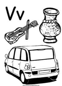 Alphabet Letter V Worksheet