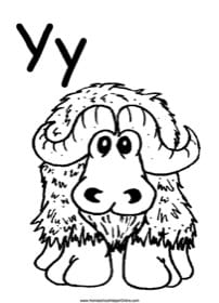 Alphabet Letter Y Worksheet