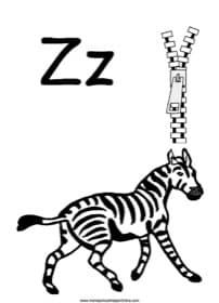 Alphabet Letter Z Worksheet