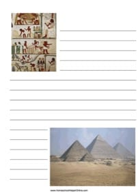 Ancient Egypt Notebooking Page