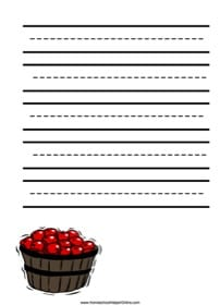 Apples Notebooking Page