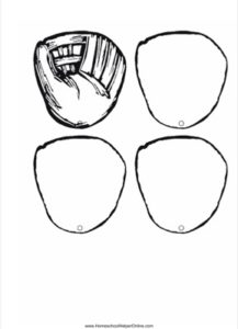 Baseball Gloves shaped book