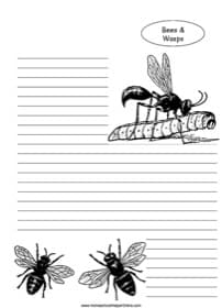Bees and Wasps Notebooking Page
