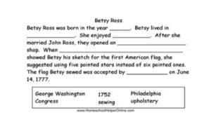 Betsy Ross Worksheet