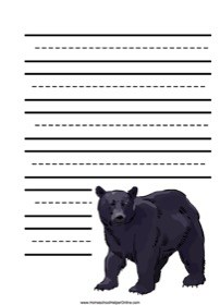 Black Bear Notebooking Page