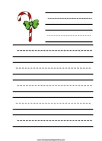 Candy Cane Elementary Notebooking Page