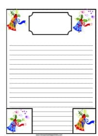 Christmas Bells Notebooking Page