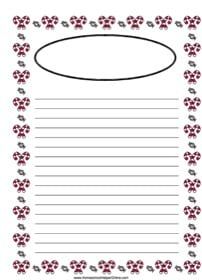 Christmas Candy Cane Notebooking Page