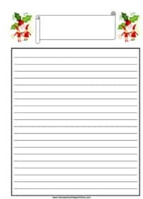 Christmas Elves with Holly Notebooking Page