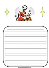 Mary and Jesus Christmas Notebooking Page