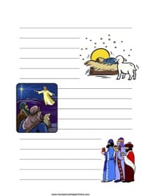 Christmas Story ~ Bible Notebooking Page