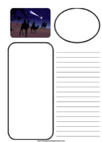 Wise Men on Camels ~ Bible Notebooking Page