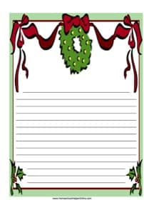 Christmas Wreath Notebooking Page