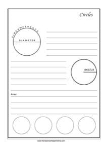 Circles ~ Geometry Notebooking Page - Homeschool Helper Online