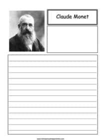 Claude Monet Notebooking
